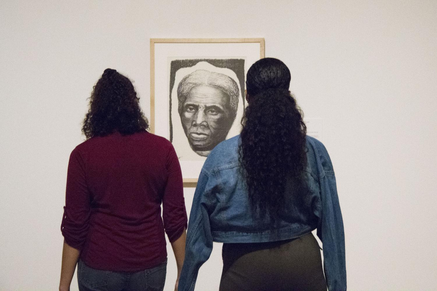 Students in Between the Buildings: Art from Chicago at KAM Fest Opening Night Celebration, Krannert Art Museum, 2018.