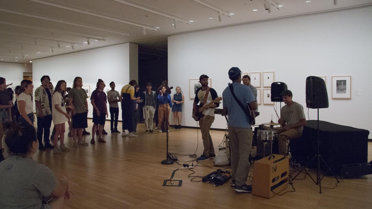 Live music in the Gelvin Noel Gallery at KAM Fest Opening Night Celebration, Krannert Art Museum, 2018.