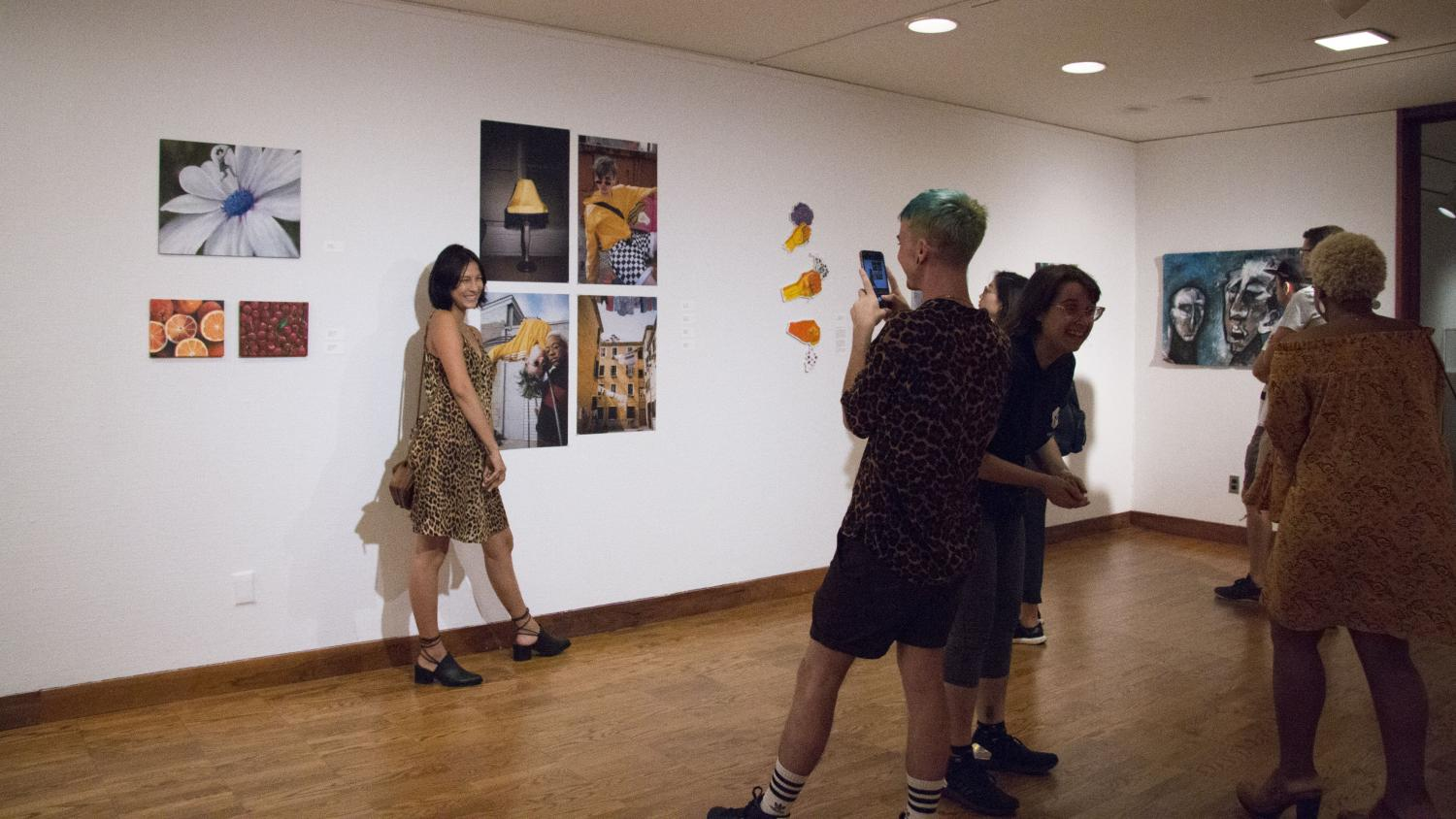 Student Pop-up Art Exhibition at KAM Fest Opening Night Celebration, Krannert Art Museum, 2018. Photo by Julia Nucci Kelly
