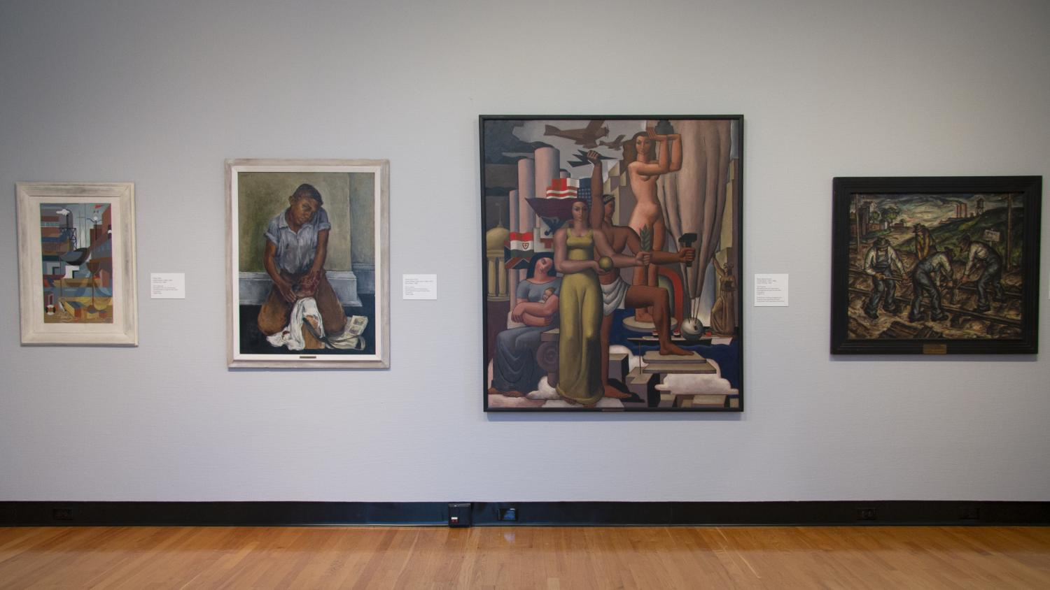All This Beauty and Color: Highlights from the WPA, installation at Krannert Art Museum, University of Illinois, 2019.