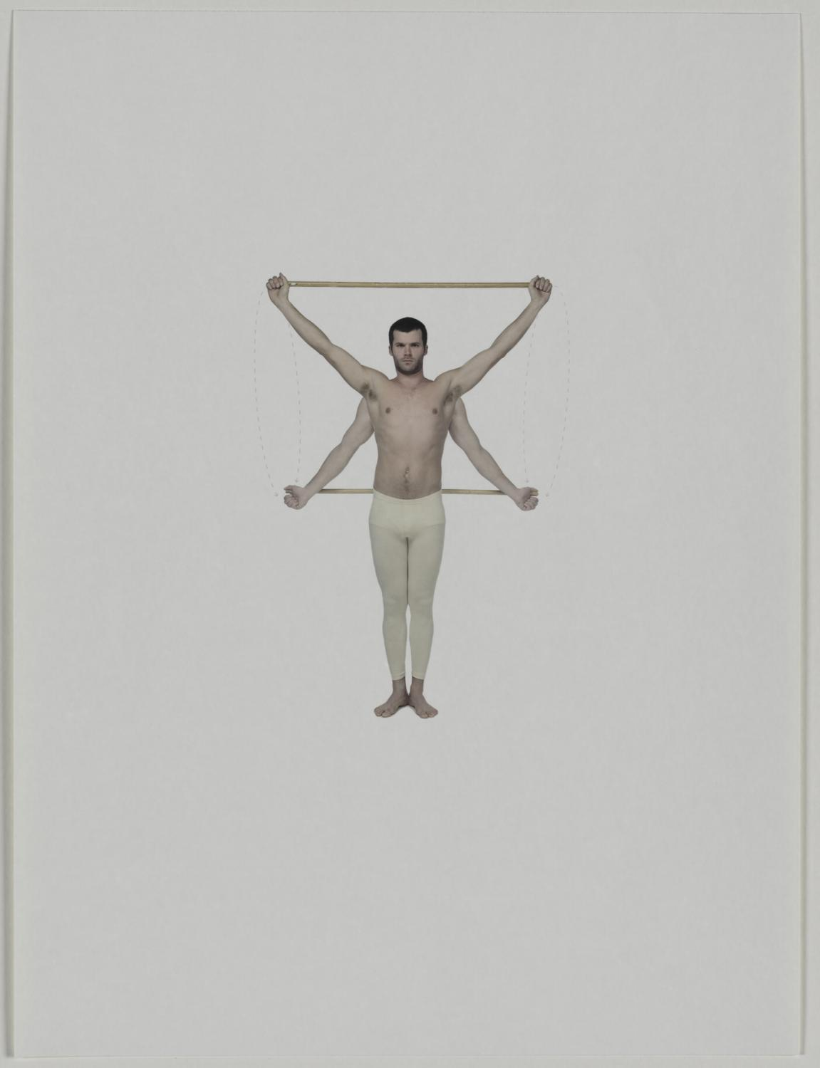 Jesse Aron Green, Swinging of the Arms Backward and Forward, from the series Illustration and Deception of the Medico-Gymnastic Exercises, 2008. Courtesy Harvard Art Museums/Fogg Museum, Margaret Fisher Fund  © Jesse Aron Green