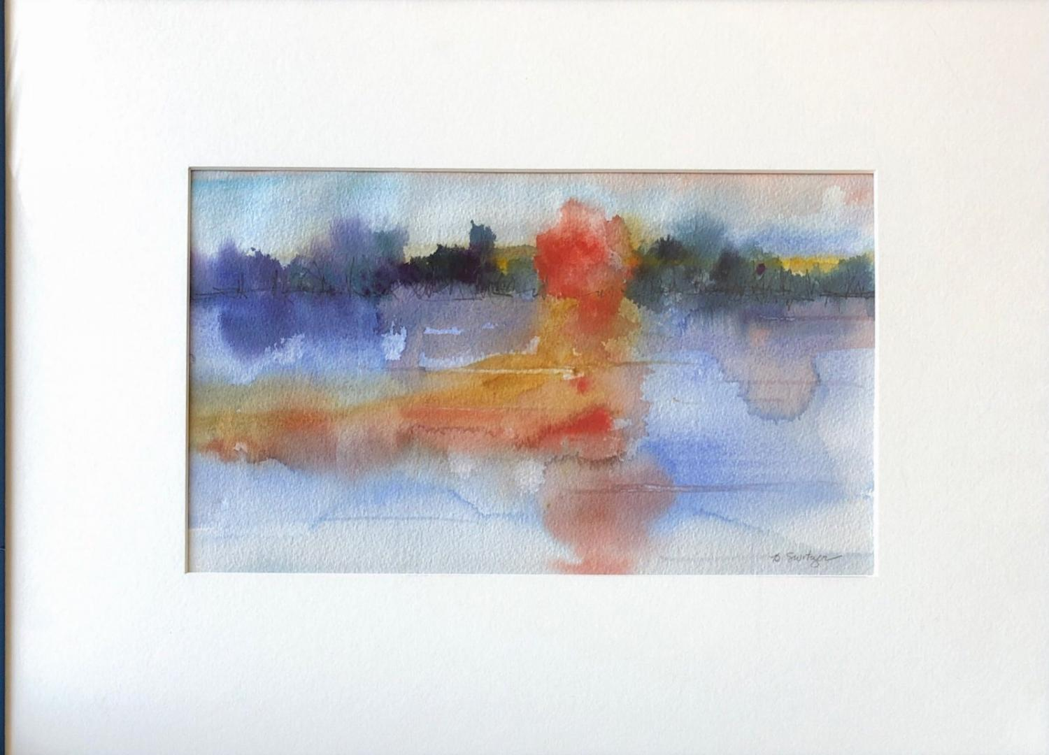 Bonnie Switzer, Sunset. Watercolor, 15 in. x 20.5 in. Courtesy of the artist.