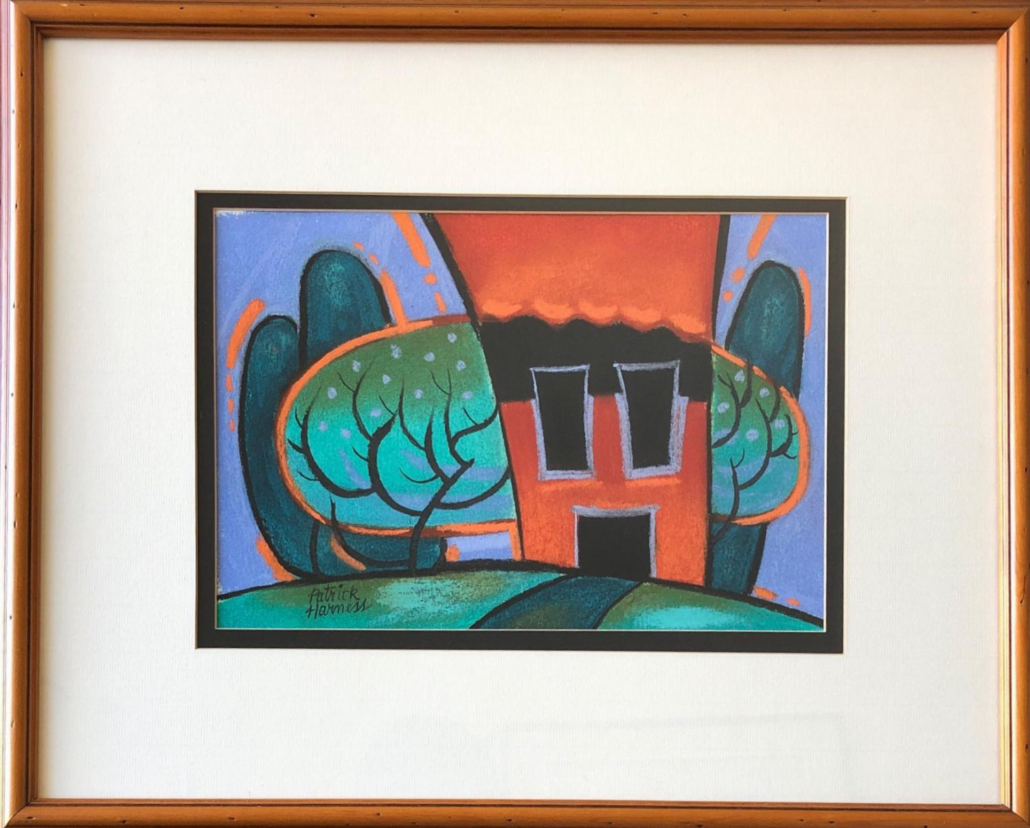 Patrick Harness, Farm O'Lantern. Pastel on rag paper, 19 in. x 23 in. Courtesy of the artist.