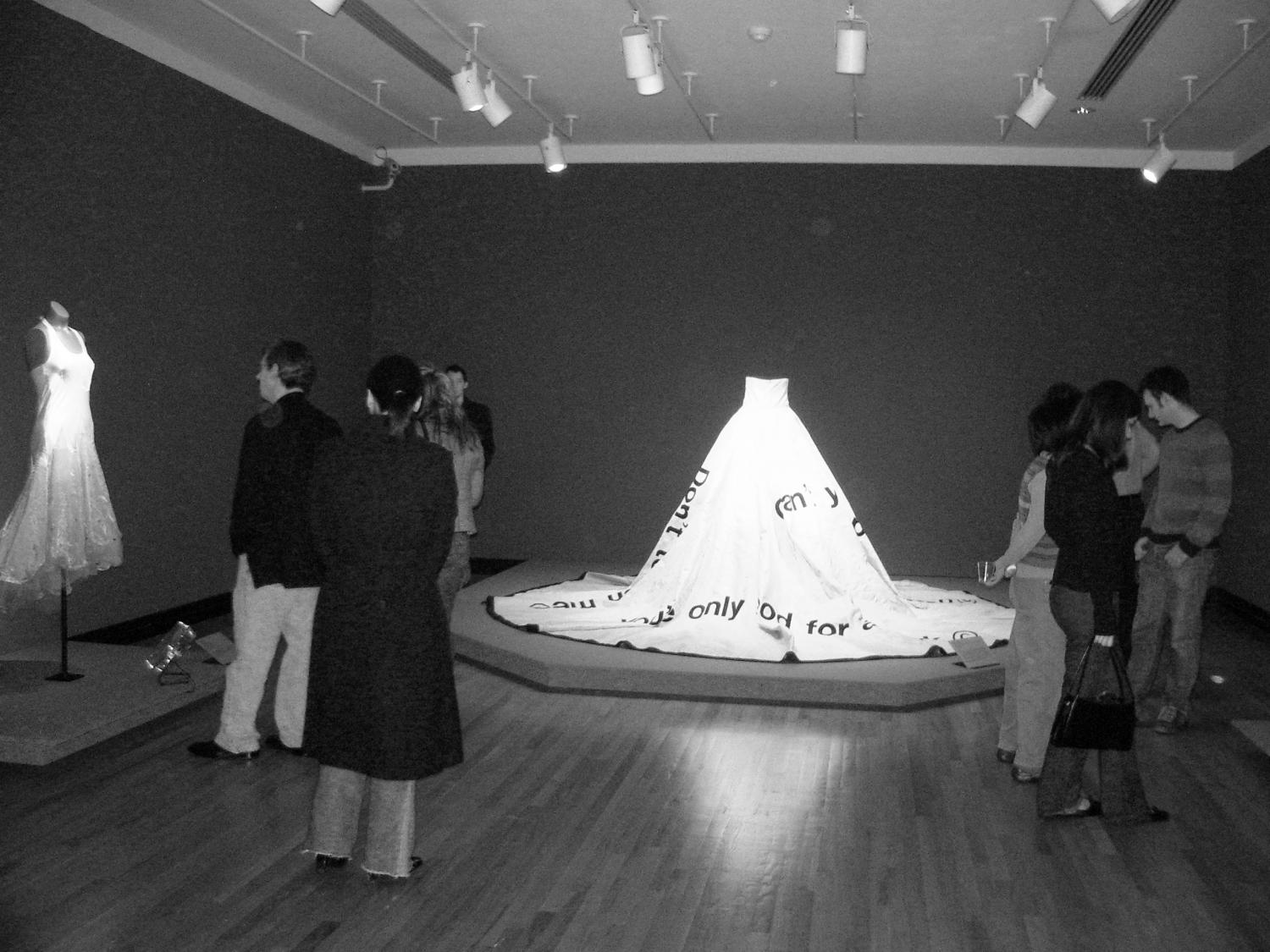 Pattern Language: Clothing as Communicator, installation at Krannert Art Museum, 2006.