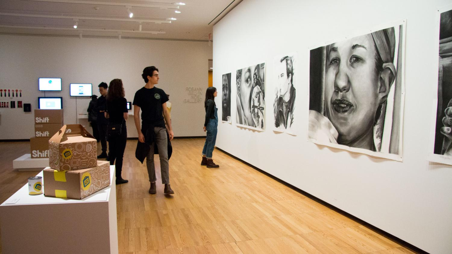 School of Art + Design Bachelor of Fine Arts Exhibition, installation at Krannert Art Museum, 2017.