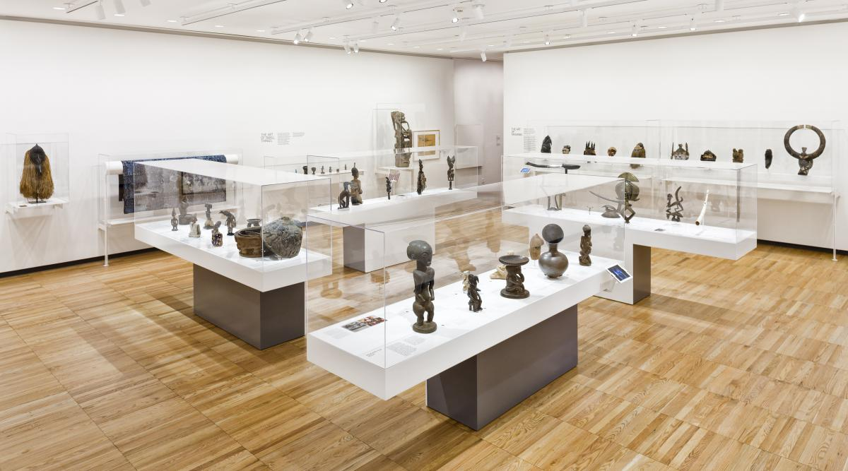 Installation image, Encounters: The Arts of Africa at Krannert Art Museum
