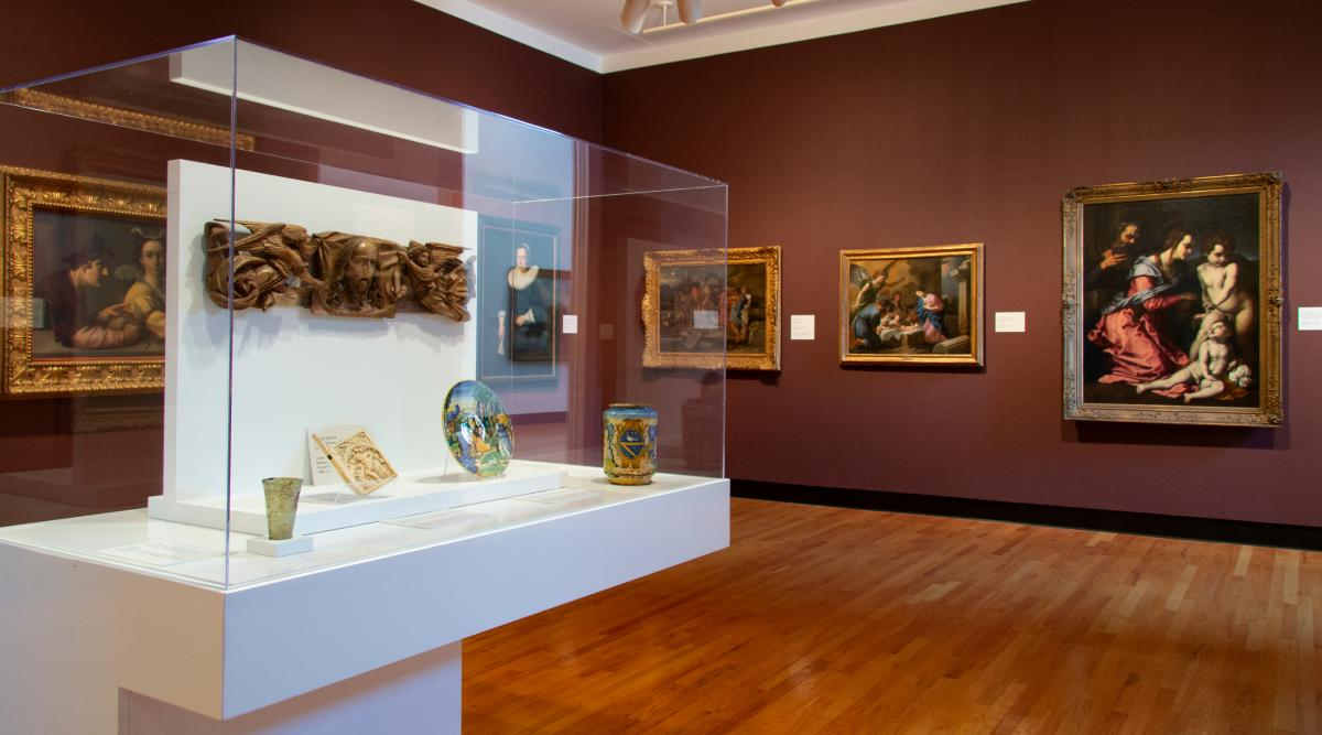 European and American Art in the Trees Gallery, installation view at Krannert Art Museum, 2019.