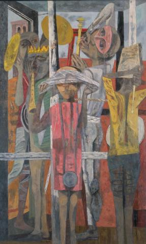 Phillip Guston, The Porch, 1945. Oil on canvas. Festival of Arts Purchase Fund 1948-10-1