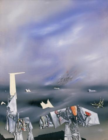 Yves Tanguy,  Le malheur adoucit les pierres (Suffering Softens Stones), 1948. Festival of Arts Purchase Fund. 1949-9-1