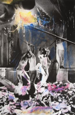 Carolee Schneemann (United States, 1939–2019), Water Light/Water Needle V, 1966–2014. Hand colored giclée print on Hahnemüle paper. Museum purchase in honor of Kathleen Harleman. 2017-17-1